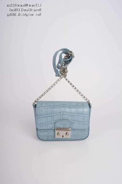 100% genuine top layer leather elegant small chain purse sho
