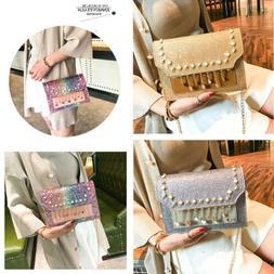 2019 Luxury rainbown Rhinestone purses bags for women small