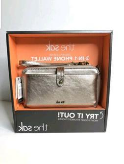 The Sak 3-in-1 Phone Wallet Zip Purse Case Crossbody Wristle
