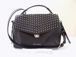 MICHAEL KORS $368 Bristol Black Crossbody PURSE Studded HAND