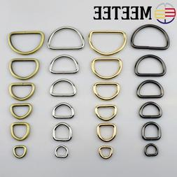 5pcs Meetee 13-50mm Metal O Dee D Ring Buckles Clasp Web Bel