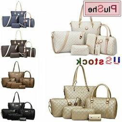 6Pcs/Sets Women Lady Brand PU Leather Handbags Shoulder Purs