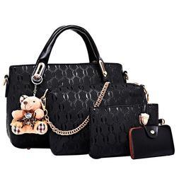 5Pcs/Set Women Lady Leather Handbags Messenger Shoulder Bags