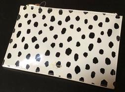 Kate Spade New York Flamingo Dot Pencil Pouch Set , black &