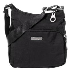 NEW BAGGALLINI Small Crossbody Shoulder Bag Black Nylon Top