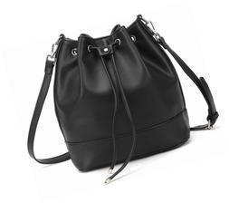 AFKOMST Drawstring Bucket Bag for Women Large Crossbody Purs