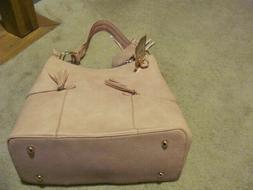 Alyssa Vegan Pink Purse Bag NWT---very nice