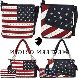 American Flag Stars and Stripes Concealed Carry Purse Crossb