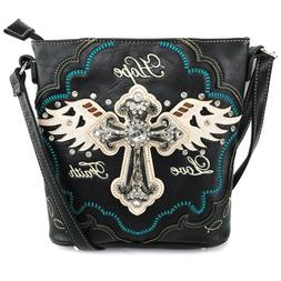 Justin West Angel Wing Cross Faith Love Hope Conceal Carry P