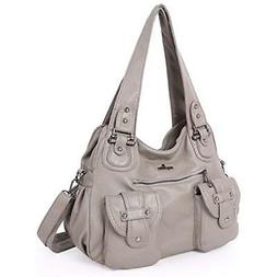 Angelkiss Shoulder Bags For Women Washed PU Lether Purses An