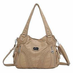 Angelkiss Women Top Handle Satchel Handbags Messenger Tote W