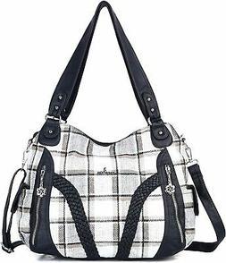 Angelkiss Women Top Handle Satchel Handbags Shoulder Bag Mes