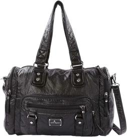 Angelkiss Womens Soft Leather Purses and Handbags Satchel Sh