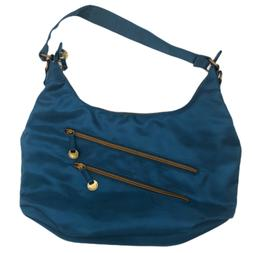 Travelon Anti-Theft Large Dark Teal Blue Hobo Shoulder Bag P