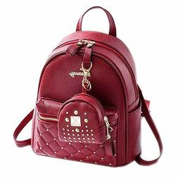 Backpack Mini Purse Casual Daypacks Leather for Teen Girls a