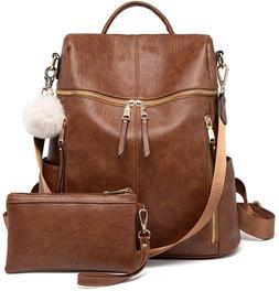 Backpack Purse for Women, Large Designer Fashion Leather Mul