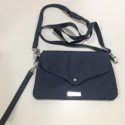 Bagalini Crossbody Purse Gray Hand and Shoulder Strap 5x8.5