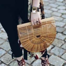 Bamboo Handbag Purses And Handbags Wooden Clutch Lurury Desi