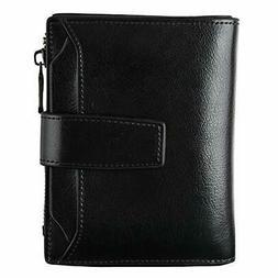 Bifold Zipper Pocket Wallet Gift For Women Girls Card Case P