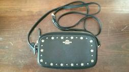 "COACH Black and Gold, 2 Pocket, Cross Body Purse, 7 1/2"" lon"