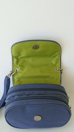 Baggallini Blue Small Organizer Crossbody Bag Travel Nylon B
