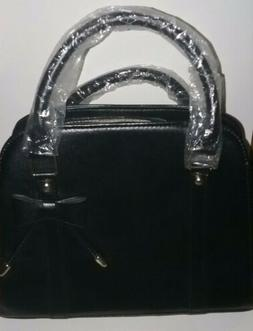 Brand New Women's Coofit Black Little Bow Handbag/Purse