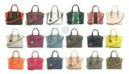 Michael Kors Ciara Medium Leather Messenger Satchel Handbag