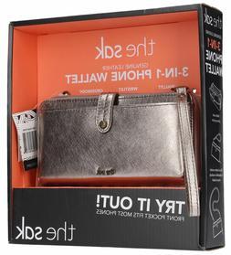 Brand New Women's The Sak Leather 3 In 1 Wallet Wristlet Cro