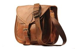 "Handmadecraft 9"" X 7"" Brown,Genuine Leather Women's Bag/Hand"