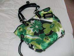 BEIJO by Susan Handley Inside and Out green flower purse han