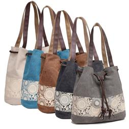 Canvas Shoulder Bag Retro Casual Purse Tote Handbag Travel M