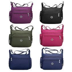 Casual Cross Body Handbag for Women Nylon Shoulder Bag Messe