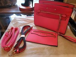 Casual pink Purses and Shoulder Handbags for Women Nylon Cro