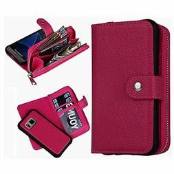 Categories S7 Wallet Case, Magnetic Detachable Purse Samsung