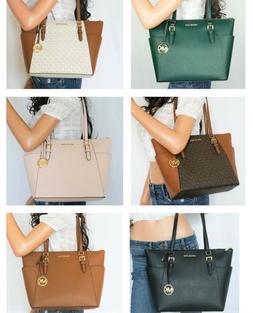 charlotte large top zip shoulder tote bag