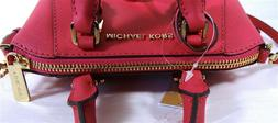 Michael Kors Ciara Electric Pink Leather Medium Messenger Sa