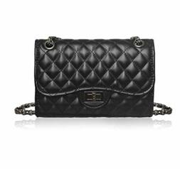 Classic Crossbody Shoulder Bag for Women Quilted Purse With