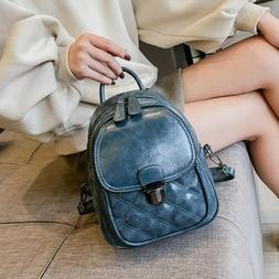 Classical PU Leather Small Backpack Purse Mini Daypack for T