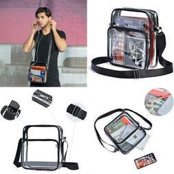 Clear Crossbody Messenger Shoulder Bag Nfl Stadium Approved,