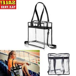 Clear Tote Bag Shoulder Straps Large Transparent Purse Stron