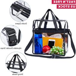 Clear Tote Bag Transparent Shoulder Purse Backpack Handbag N
