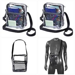 Clear Tote Cross Body Messenger Bag Stadium Shoulder Approve