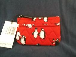 VERA BRADLEY COIN PURSE IN PLAYFUL PENGUINS RED NEW WITH TAG