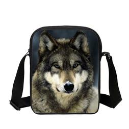 Cool Wolf Animal Print Kids Small Crossbody Bag Daily Sling