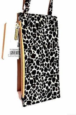 Travelon Cross Body Shoulder Neck  Wallet LEOPARD Purse Bag