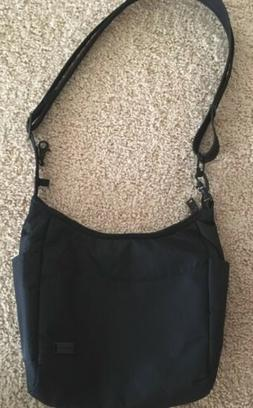 Travelon Crossbody Bag Anti-Theft Handbag Purse Black Gray g
