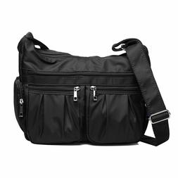 Crossbody Bags for Women, Multi Pocket Shoulder Bag Waterpro