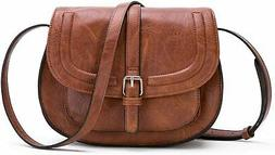 AFKOMST Crossbody Bags for Women,Small Saddle Purse and Satc