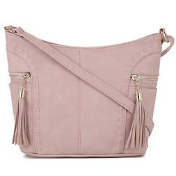 DELUXITY | Crossbody Hobo Slouch Bucket Purse Bag | Side Poc