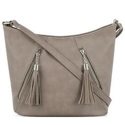 DELUXITY | Crossbody Hobo Slouch Bucket Purse Bag | Zippered